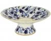 "Lomonosov Imperial Porcelain Candy Vase Bluebells 7.6"" D"