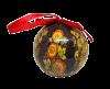 Christmas New Year Tree Decorative Ball Black Khokhloma