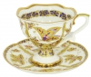Lomonosov Imperial Porcelain Fantastic Butterflies Bone China Tea Cup and Saucer