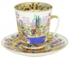 Lomonosov Imperial Porcelain Cup and Saucer Bone China May Spring