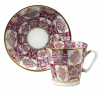 Lomonosov Imperial Porcelain Cup and Saucer Bone China Pink Pattern 2.71 fl.oz/80 ml
