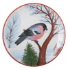 "Decorative Wall Plate Bullfinch Red Breast 7.7""/195 mm Lomonosov Imperial Porcelain"