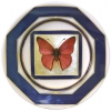 "Decorative Wall Plate 9.4""/240 mm Butterfly #13 Lomonosov Imperial Porcelain"