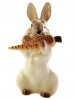 Easter Bunny Rabbit with Carrot Lomonosov Imperial Porcelain Figurine #2