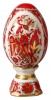 Easter Egg on Stand Magic Fire-Bird Lomonosov Imperial Porcelain