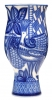 "Flower Vase Blue Bird Lomonosov Imperial Porcelain 9.4"" tall"