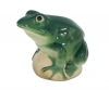 Frog on Rock Turquoise Colored Lomonosov Imperial Porcelain Figurine