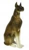 Great Dane Dog Sitting Brown Colored Lomonosov Imperial Porcelain Figurine