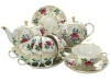 Imperial Lomonosov Porcelain Tea Set 14 items Tulip Golden Grasses for 6 persons