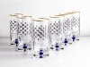 Imperial Porcelain Factory High Juice Glass 10 fl.oz Set 6 pc Cobalt Net