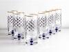 Imperial Porcelain Factory High Juice Glass 10 fl.oz Set 6 pc Cobalt Net