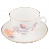 Lomonosov Bone China Cup and Saucer Spring-2 Tender Peony Gray 8.45 fl.oz 250 ml