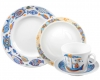 Lomonosov Imperial Porcelain Baby Set 4ps: Cup with saucer, Plate and Bowl Sea Journey