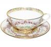 Lomonosov Imperial Porcelain Bona China Cup and Saucer Dome Eden