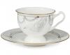 "Lomonosov Imperial Porcelain Bone China Cup and Saucer ""Ballet Swan Lake"""