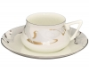 Lomonosov Porcelain Bone China Cup and Saucer Bilibina Crocus