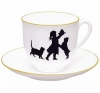 Lomonosov Imperial Porcelain Bone China Cup and Saucer Birthday 6.1 fl.oz/180ml