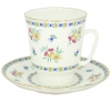 Lomonosov Imperial Porcelain Bone China Cup and Saucer May Blue Bells 5.6 fl.oz/165 ml 2 pc