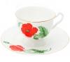 """Lomonosov Imperial Porcelain Bone China Cup and Saucer """"Cardinal"""""""