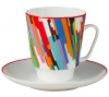 Lomonosov Imperial Porcelain Bone China Cup and Saucer May Avant-garde