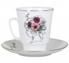 Lomonosov Imperial Porcelain Bone China Cup and Saucer May Singing Soul 5.6 fl.oz/165 ml 2 pc
