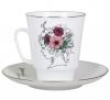 Lomonosov Imperial Porcelain Bone China Cup and Saucer May Singing Soul 5.6 fl.oz/165 ml 2 pc