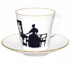 Lomonosov Imperial Porcelain Bone China Espresso Cup and Saucer Together