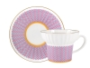 Lomonosov Porcelain Bone China Espresso Coffee Cup Set Wave Geometry #2 5.24 oz 155 ml