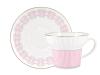 Lomonosov Porcelain Bone China Espresso Coffee Cup Set Wave Geometry #5 5.24 oz 155 ml