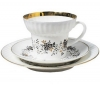 Lomonosov Imperial Porcelain Bone China Espresso Cup and Saucer Tiny Branches