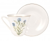 Lomonosov Imperial Porcelain Bone China Tea Set Cup and Saucer Cornflower 7.3 fl.oz/200 ml