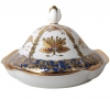 Lomonosov Porcelain Butter Holder Dish Natasha Fantastic Butterflies