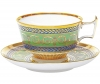 Lomonosov Imperial Porcelain Coffee Cup and Saucer Alexandria Golden 6.8 oz/200 ml