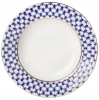 "Lomonosov Porcelain Dinner Plate Cobalt Net European-2 Flat 8.5""/215 mm"