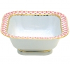 Lomonosov Imperial Porcelain Salad Bowl Red Net (1 serv.) 5.75 oz / 170 ml