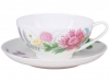 Lomonosov Imperial Porcelain Tea Set Cup and Saucer Dome Wildflowers #1