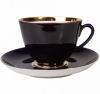 Lomonosov Imperial Porcelain Tea Set Cup and Saucer Spring Night 7.8 oz/230 ml