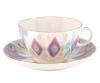 Lomonosov Imperial Porcelain Tea Set Cup and Saucer Tulip Peacock's Feather