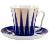 Lomonosov Imperial Porcelain Mug Cobalt Pattern Morioka Leningradskii-2 12.2 fl.oz 360 ml