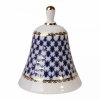 Lomonosov Imperial Porcelain Bell Cobalt Net Big
