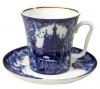 Lomonosov Imperial Porcelain Mug and Saucer Frosty Day Leningradskii 12.2 fl.oz/360 ml