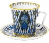 Lomonosov Imperial Porcelain Mug and Saucer Kizhi Leningradskii 12.2 fl.oz/360 ml