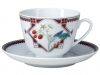 Lomonosov Imperial Porcelain Tea Cup Set Spring Sweet Raspberry 7.8 oz/230ml