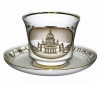 Lomonosov Imperial Porcelain Tea Cup Set St. Isaac's Cathedral 7.4 oz/220 ml