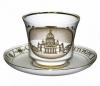 Lomonosov Imperial Porcelain Tea Cup Set St. Isaac's Cathedral 7.4 oz/220 ml