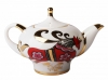 Lomonosov Imperial Porcelain Tea Pot Red Horse 8.5 oz/250 ml