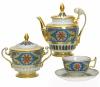 Lomonosov Imperial Porcelain Tea Set Alexandria Gothic Style 6/14