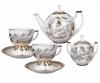 Lomonosov Imperial Porcelain Tea Set Andante Russian Modern 6/14