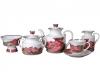 Lomonosov Imperial Porcelain Tea Set Autumn Fall 6/16