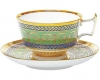 Lomonosov Imperial Porcelain Tea Set Cup and Saucer Alexandria Golden 52 8.4 oz/250 ml